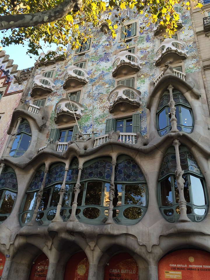 Another home he was commissioned to design was the famous Casa Batllo. Just a few blocks down the street from Casa Mila,